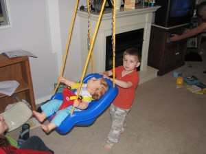 In the swing at Grandpa's House