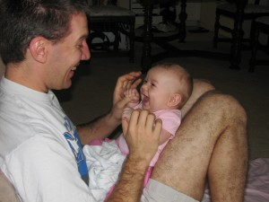 One of the first giggly pictures =)