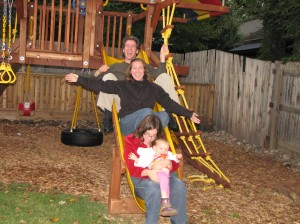 Playing on Mom's fancy playground =)