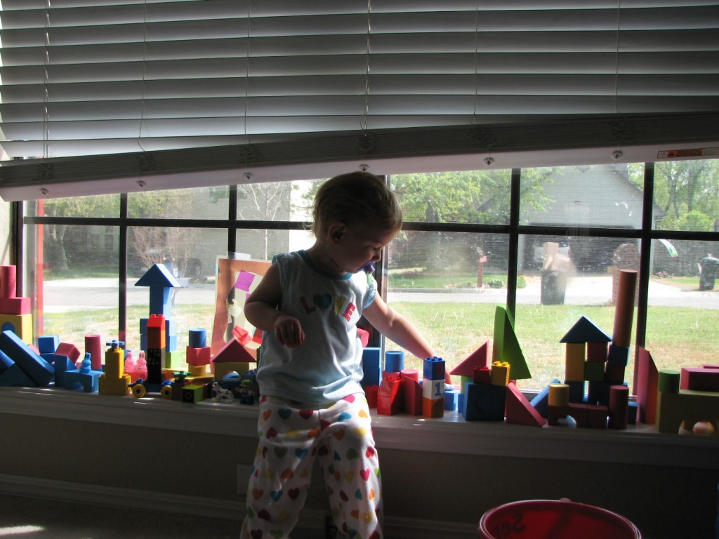 We built a huge city on our windowsill =)