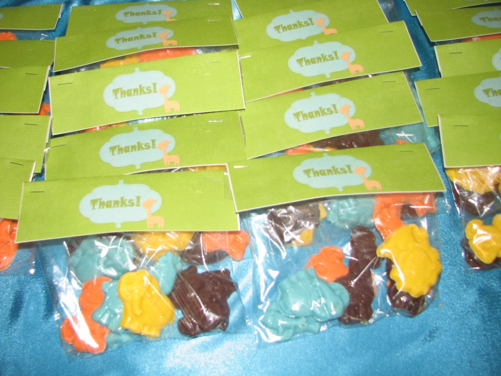 Homemade animal candy favors