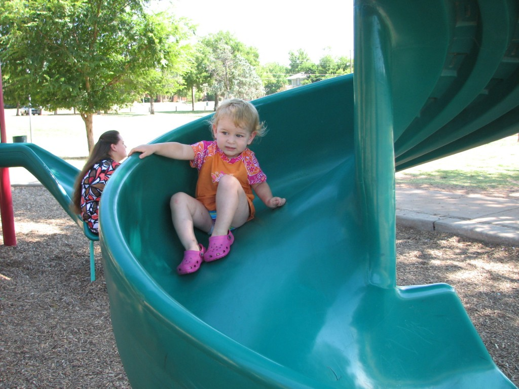 Serenity will go out of her way for a good twisty slide =)