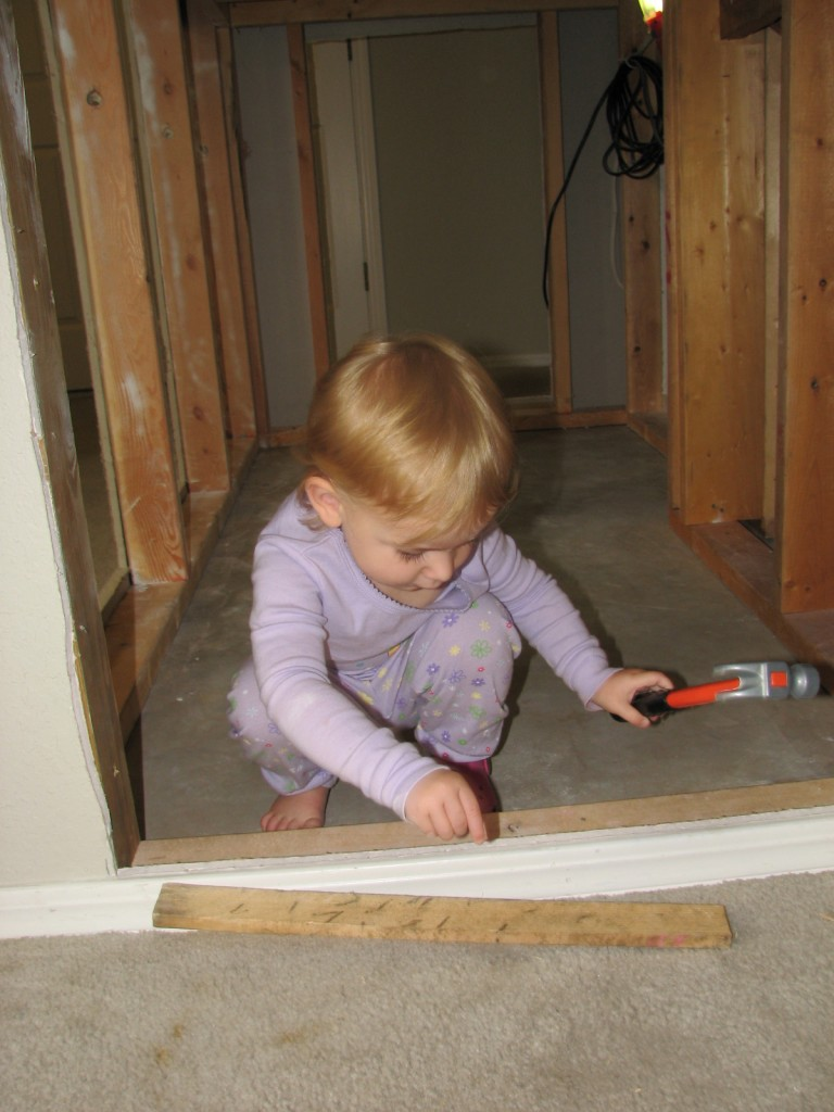 "Serenity keeps taking her tools in the hole and saying ""It's broken, I gotta fix it!"""