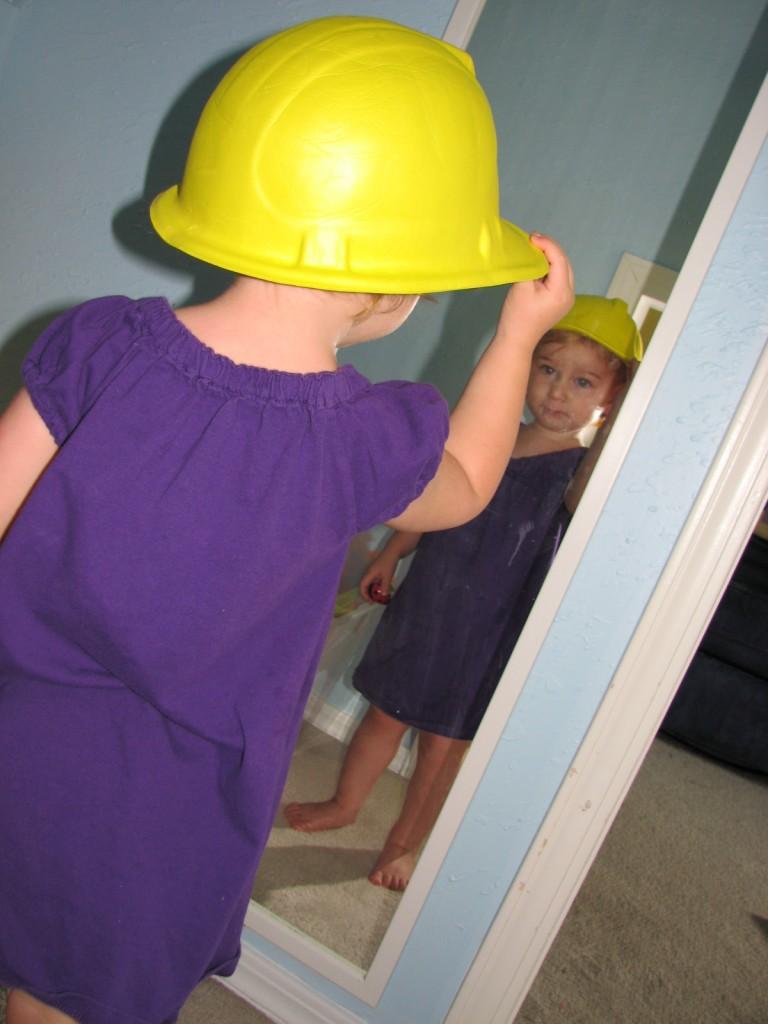 Her Alpha Pig hat =)
