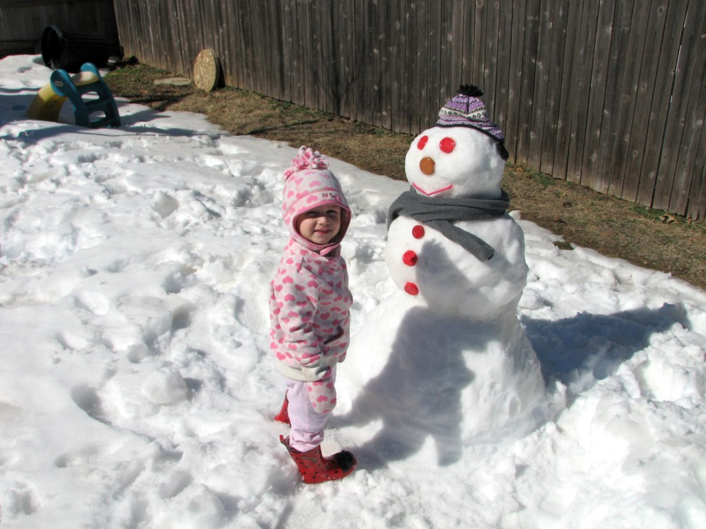 Made a snowman Saturday... and it's 60 degrees outside