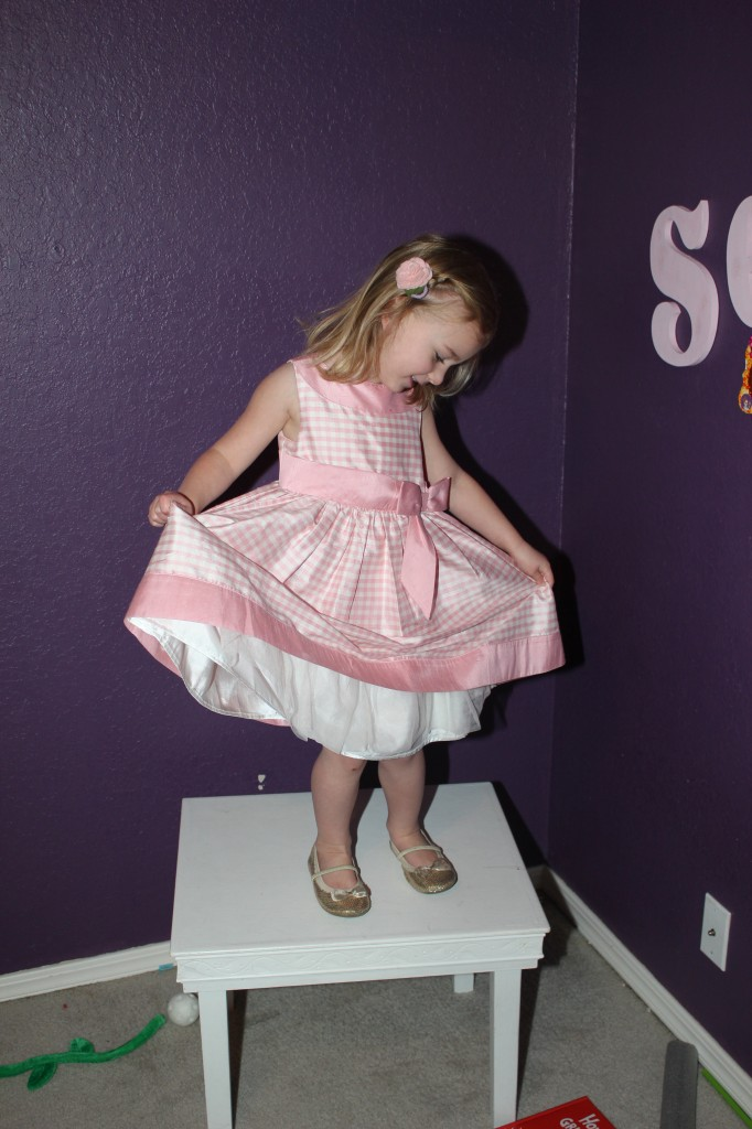 Serenity took pictures for me in this beautiful dress Mimi bought for Raegan.