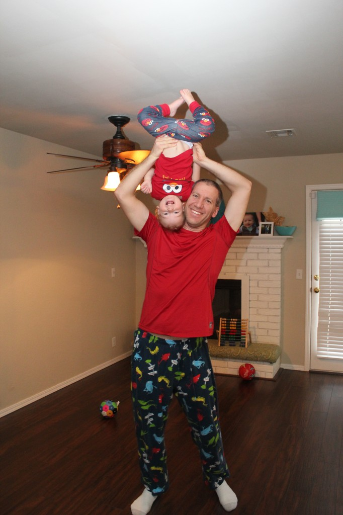 Their pjs match! =)  So cute