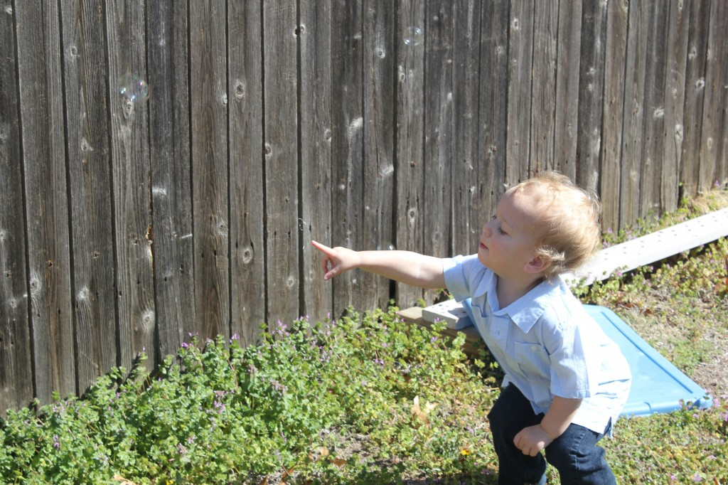 Popping Bubbles on Easter =)