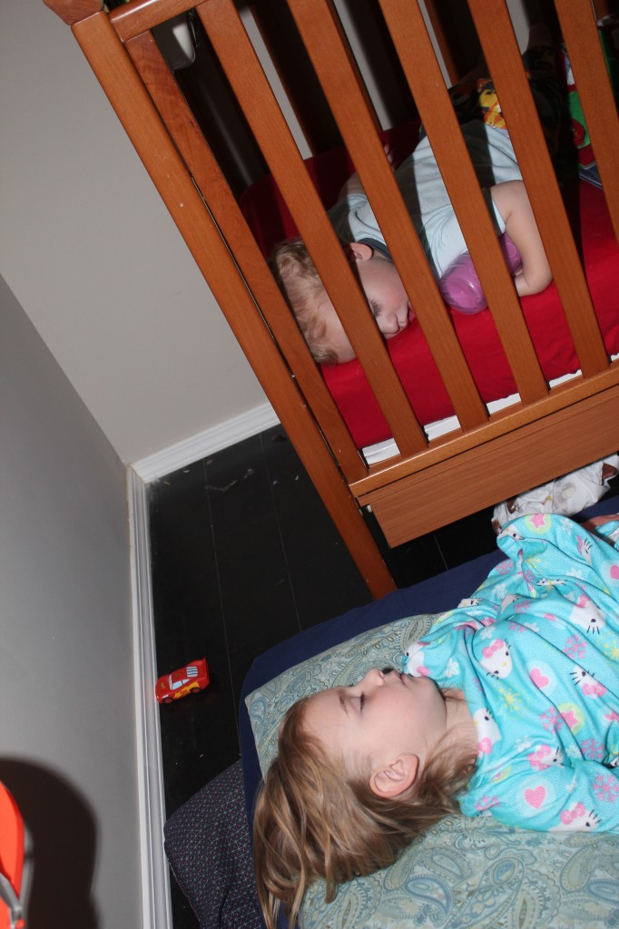 Serenity sleeps in Donovan's room once in a while.  They both love it!