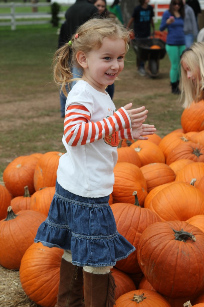 At the Pumpkin Patch October 2012