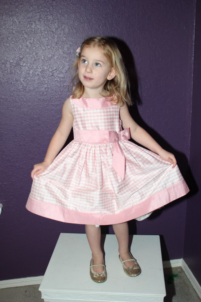 December 2012, in a beautiful dress Mimi bought Raegan.