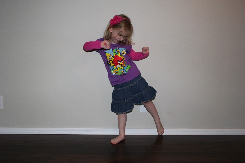 January 2013, modeling clothes from her fabulous shopping expedition with Aunt Jen and Raegan