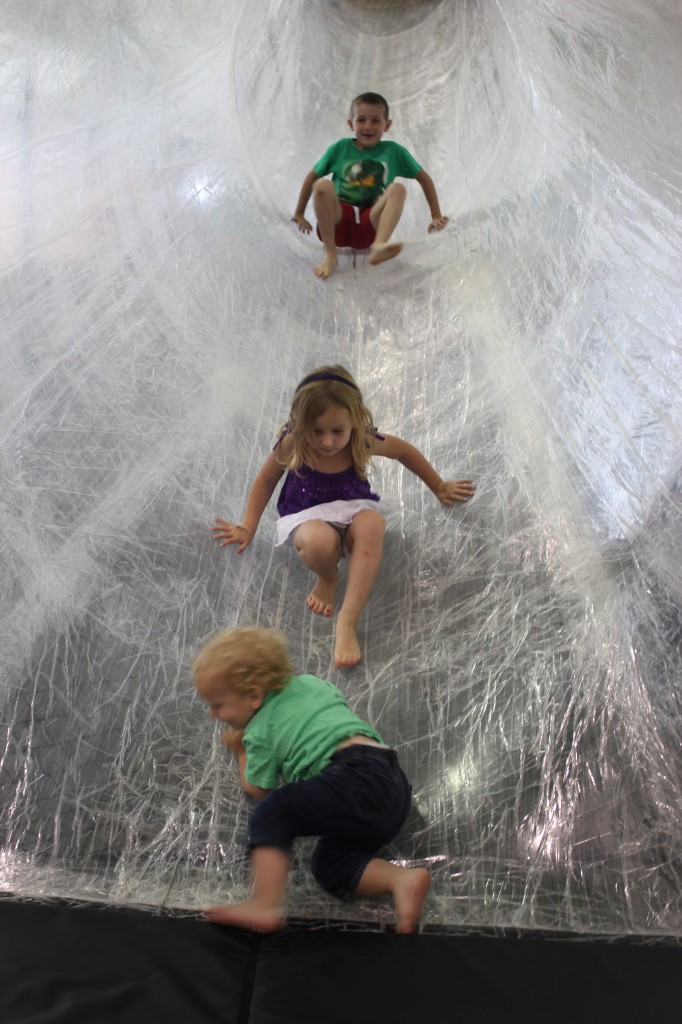 Tape tunnel slide!