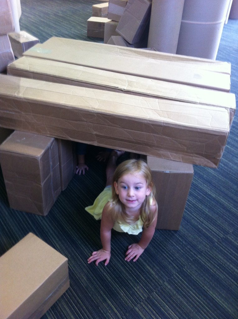 Building with cardboard boxes =)