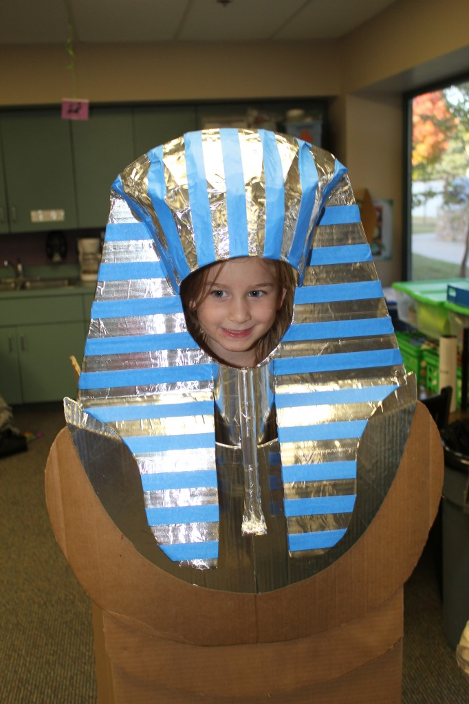 One of the Dads from P1 made this amazing sarcophagus!