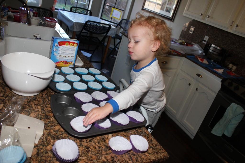 Donovan's first baking experience with just him and Mama, no sharing jobs with Serenity =)