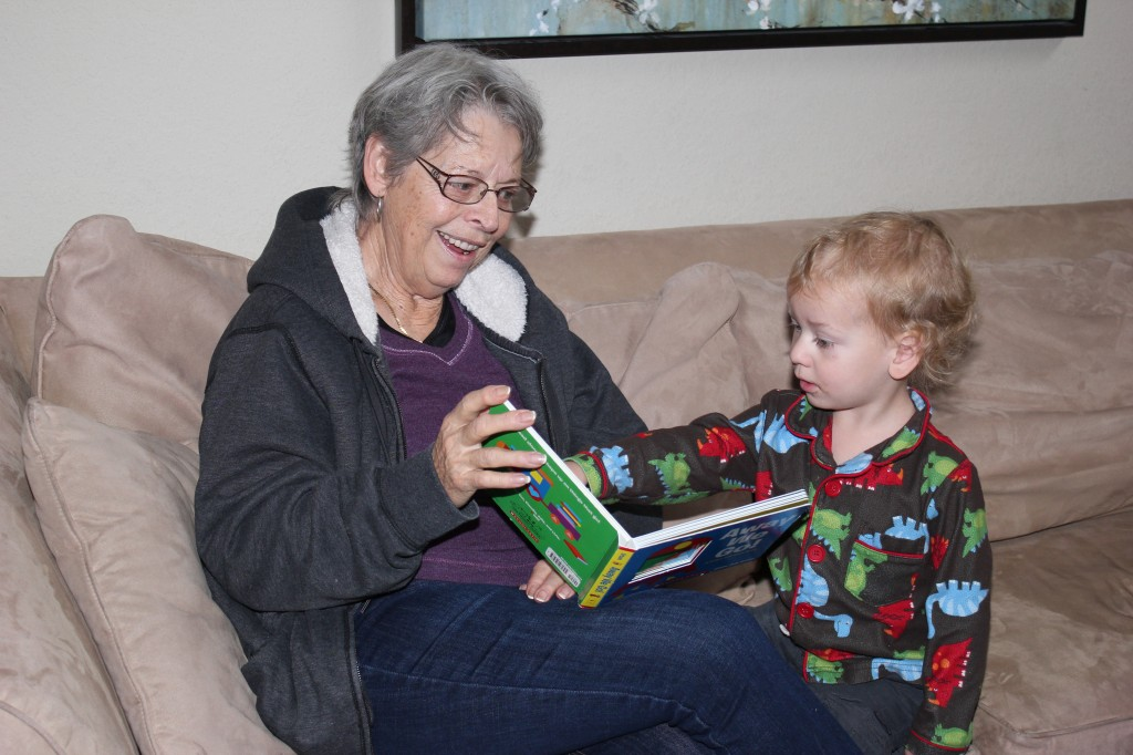 Reading with Grandma =)