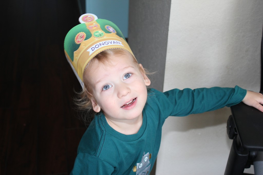 Donovan made this hat on the SuperWhy website!  He can click all by himself now very well!  And of course he knows all his letters and the letter sounds reliably enough to play it by himself!