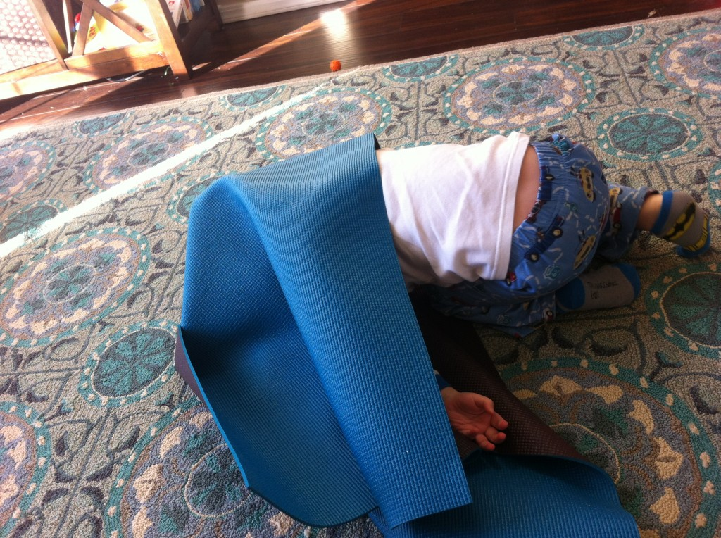 Playing Hide and Seek =)  I can still play while nursing on the couch, he's very helpful to choose places I can see from where I sit