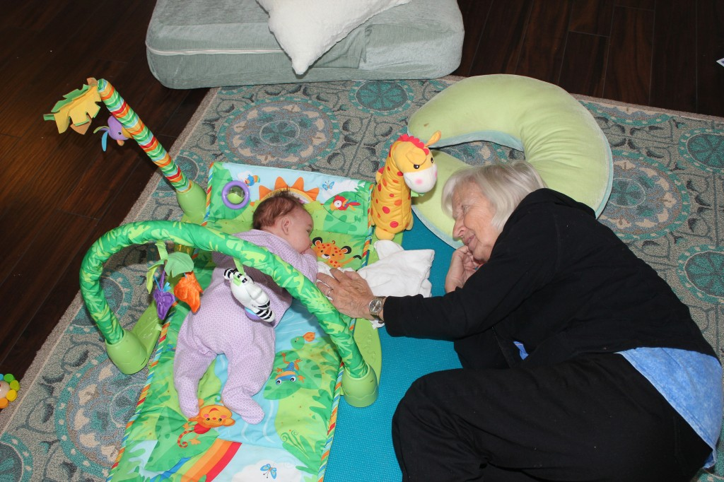 Tummy time with Vanaema!