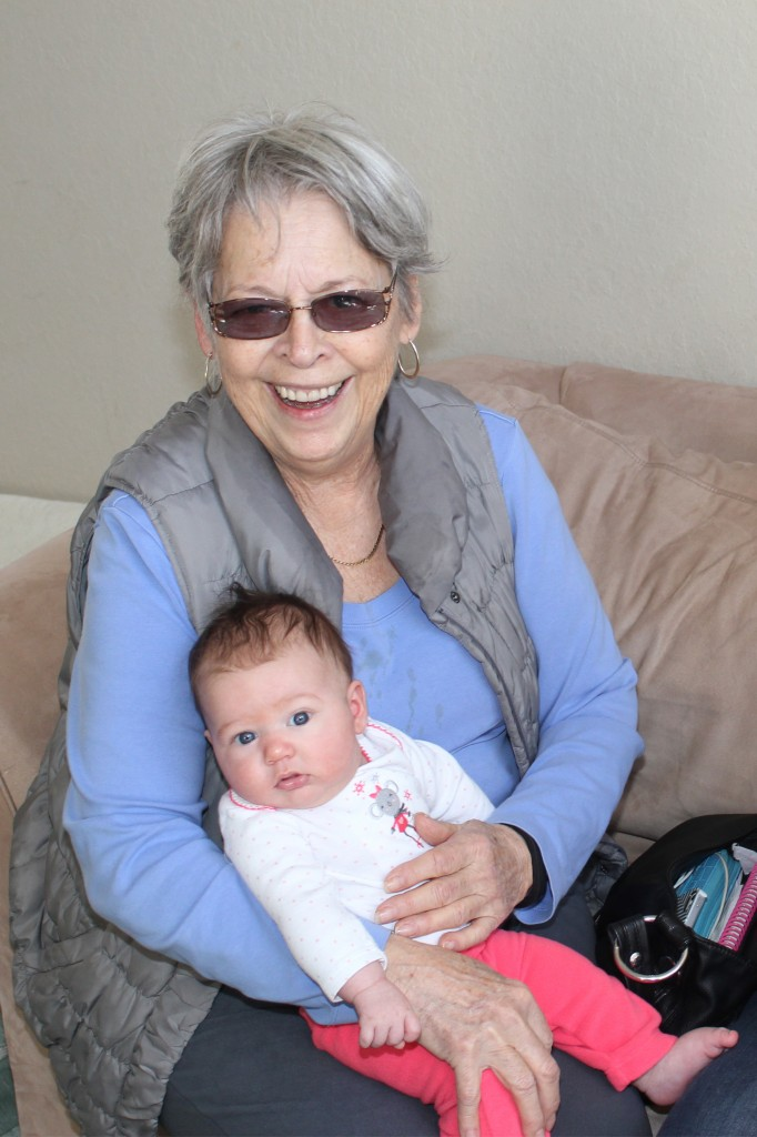 With Grandma =)  In the cute outfit from the Hoppers! =)