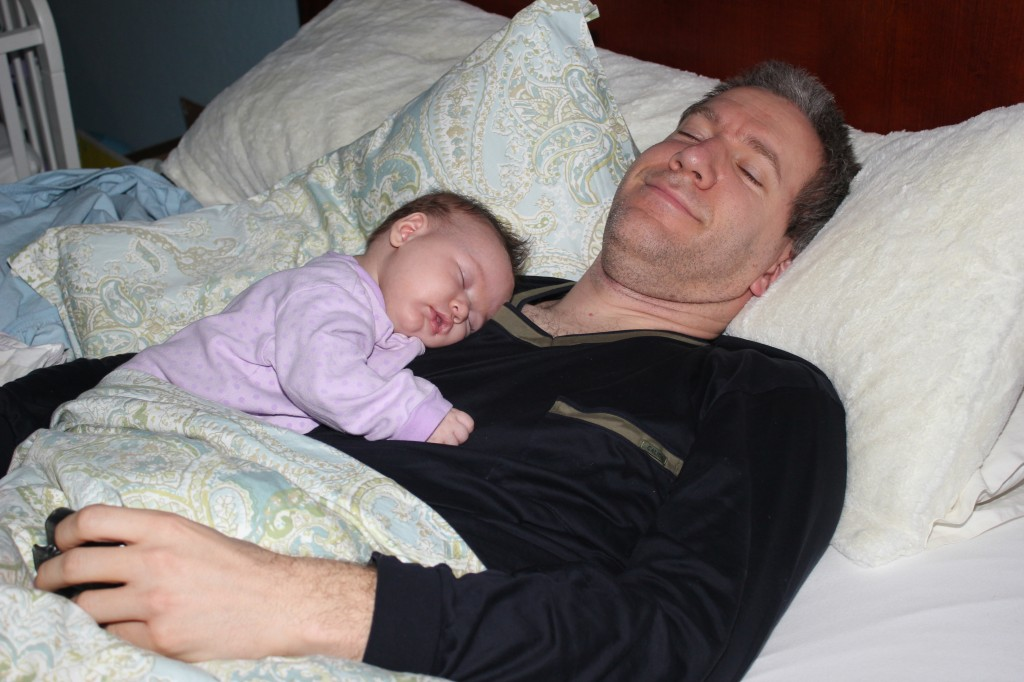 Sleeping with Daddy =)