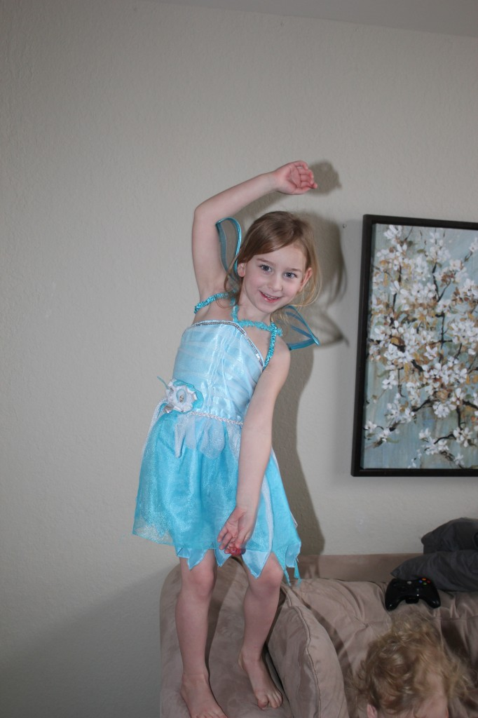 Dancing, Dress up, Balancing and Jumping, some of Serenity's favorite things =)