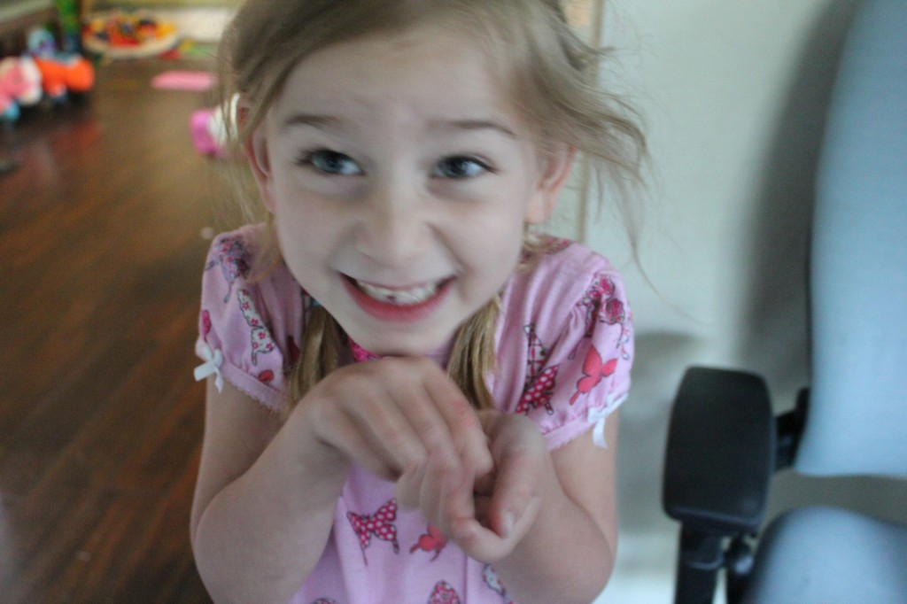 First lost tooth!!!! =)  Very exciting to wake up to =)