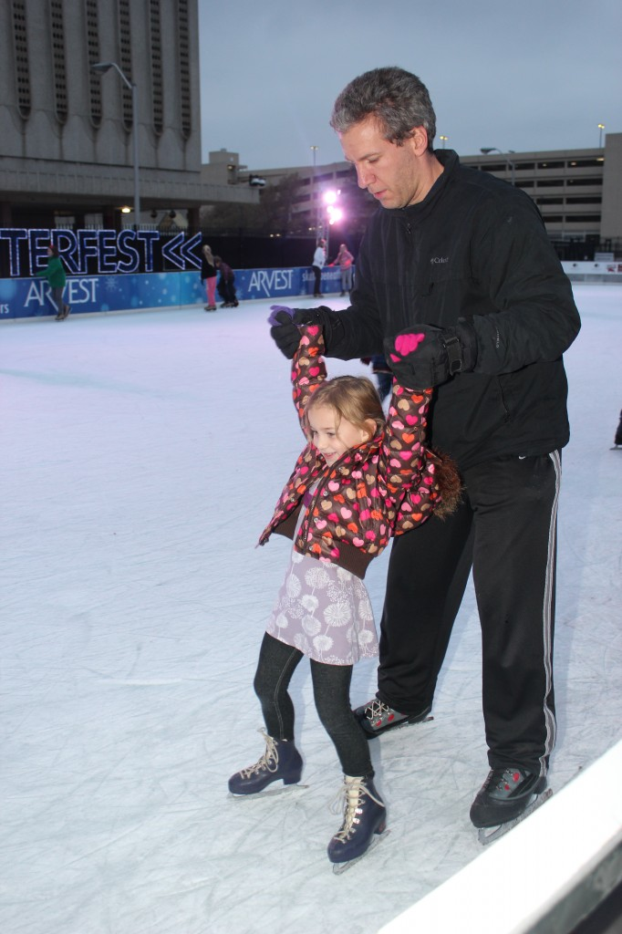 December 2013, first ice skating!