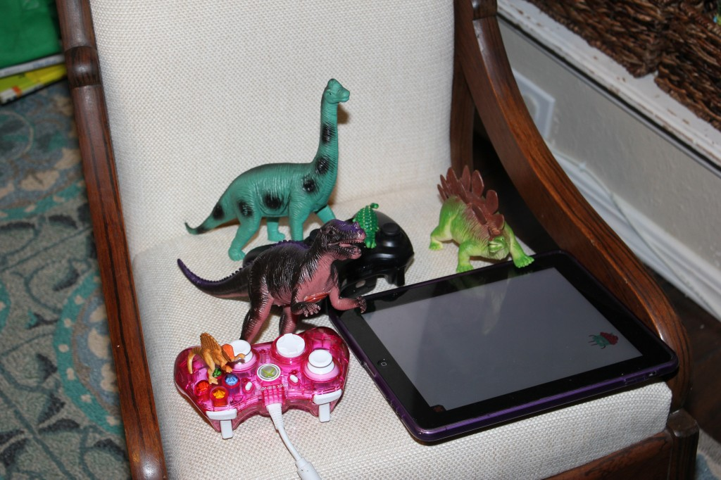 Dinosaurs programmed the IPAD to say RAWR
