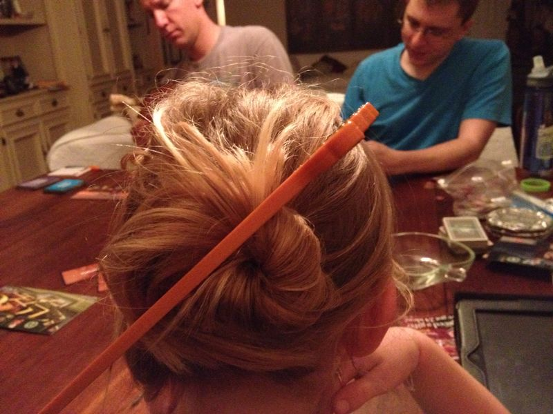 cool hair with Donovan's new chopsticks