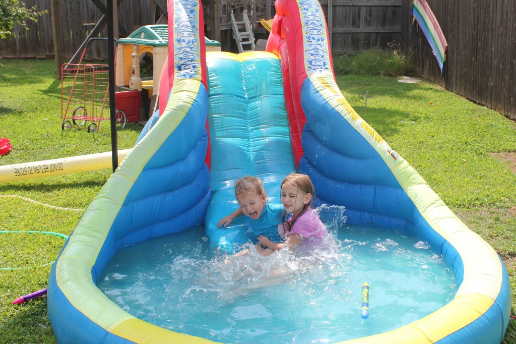 This waterslide is still a big hit!