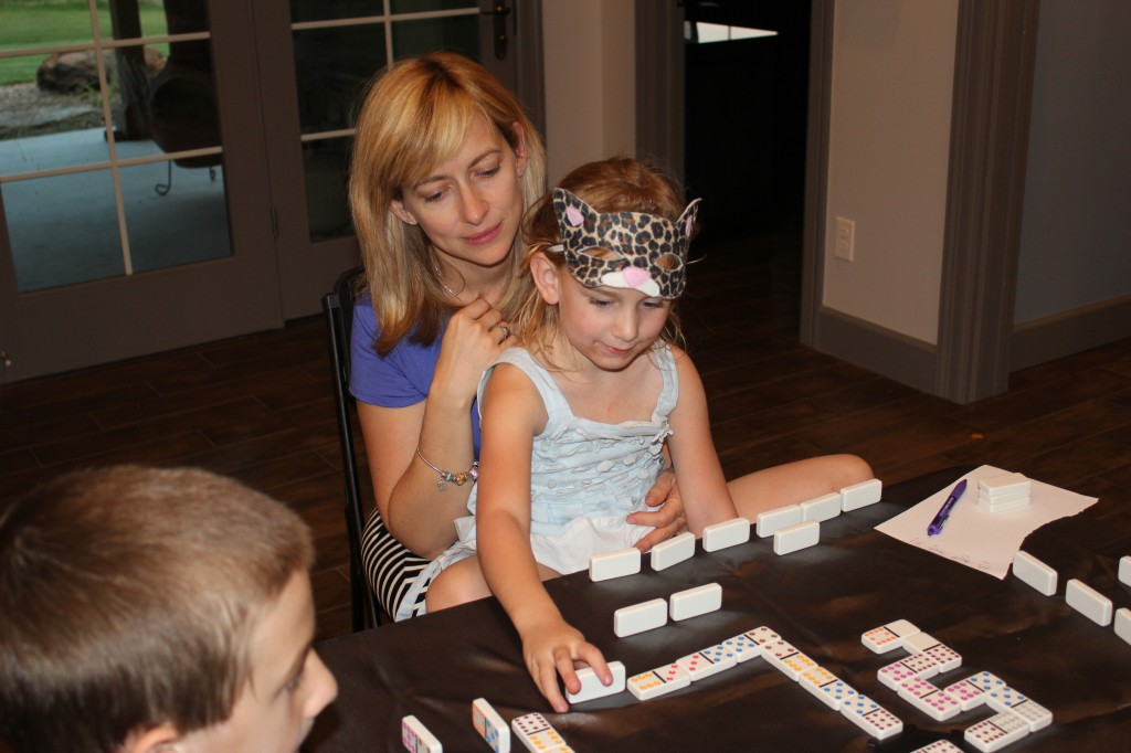 At Aunt Jennifer's 40th Birthday =)  Playing Mexican Train =)