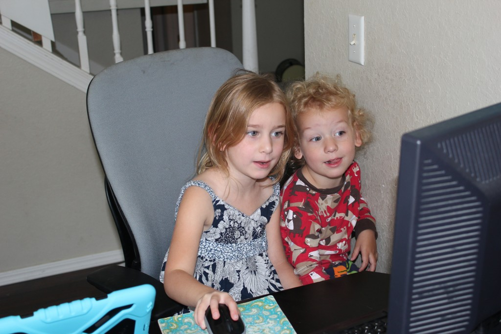 They love to do computer games together