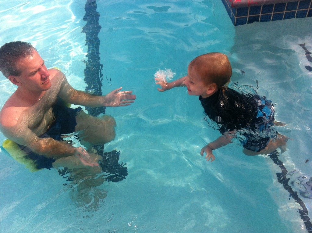 Swimming to Daddy