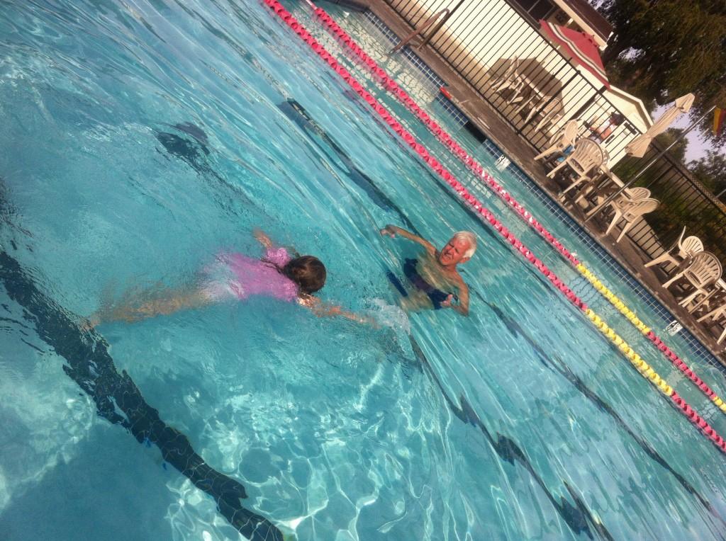 swimming to Far Far