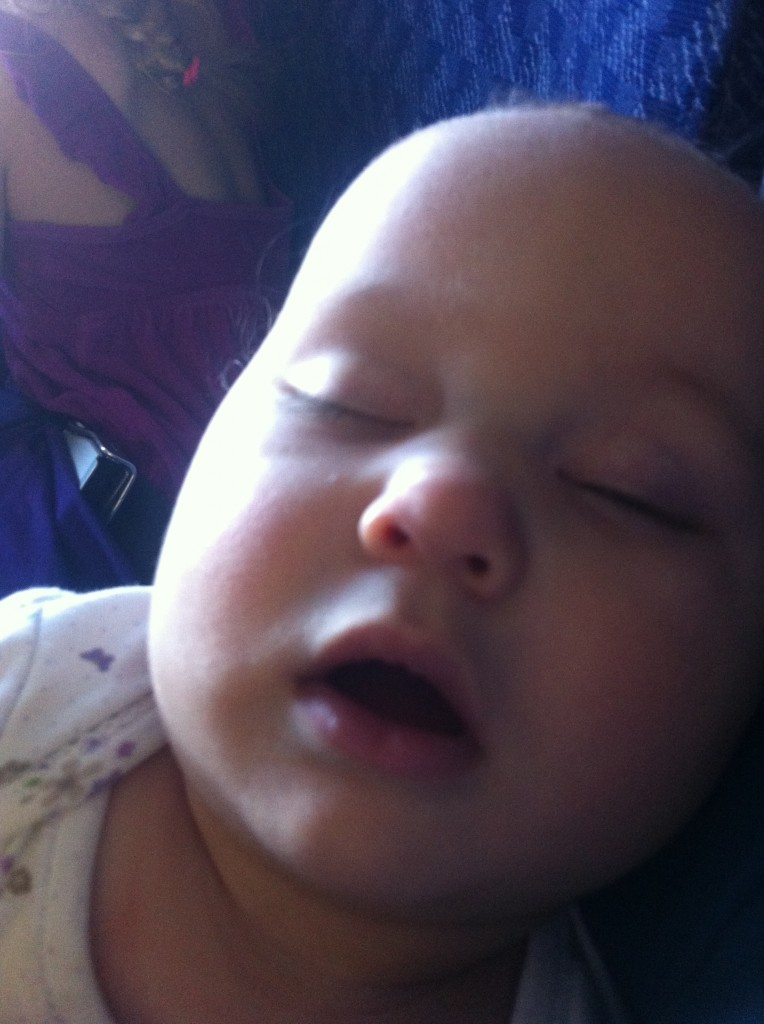 Sleeping peacefully on the airplane =)