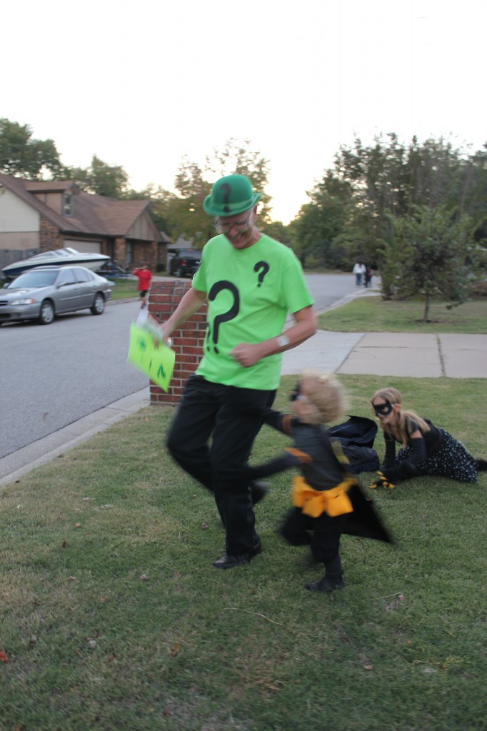 Catching the Riddler was more fun than candy =)
