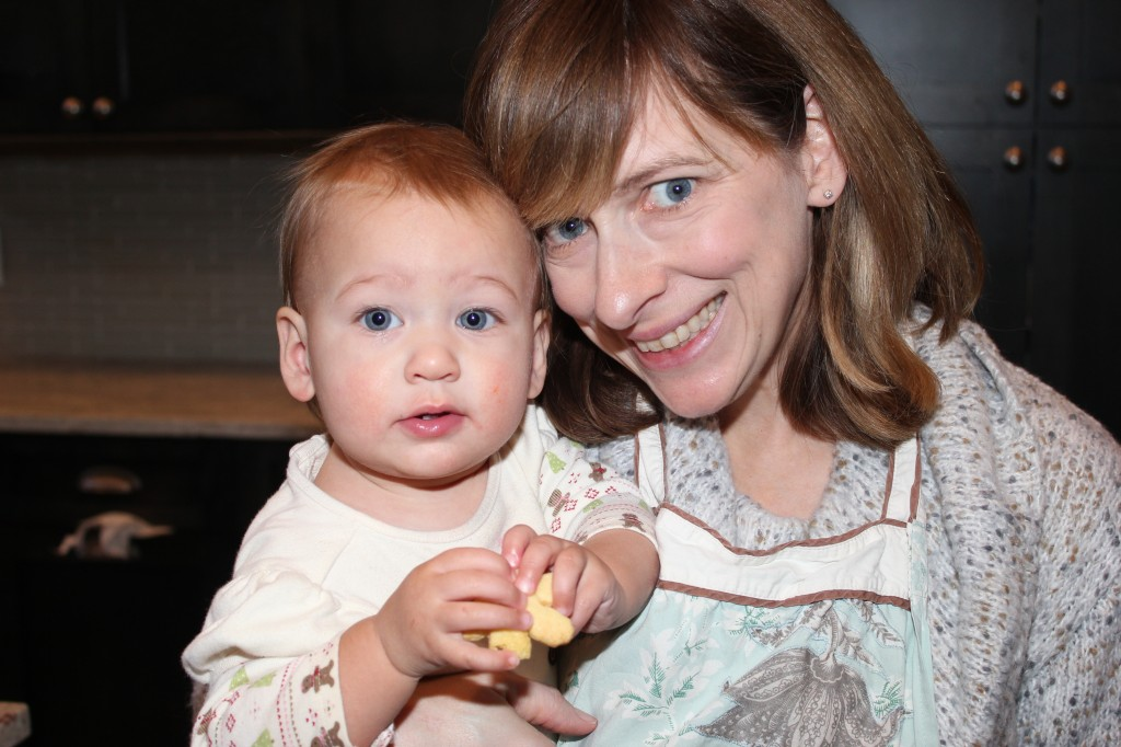 As per tradition, Jen fed Maia her first sugar =)  A cookie!