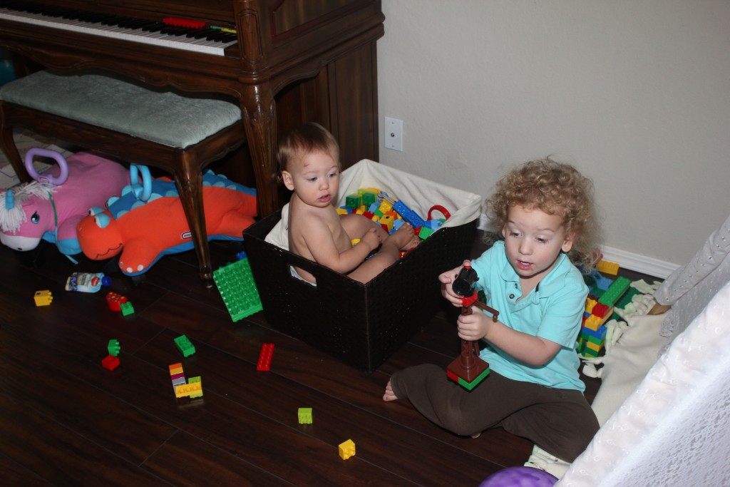 In the lego tub =)