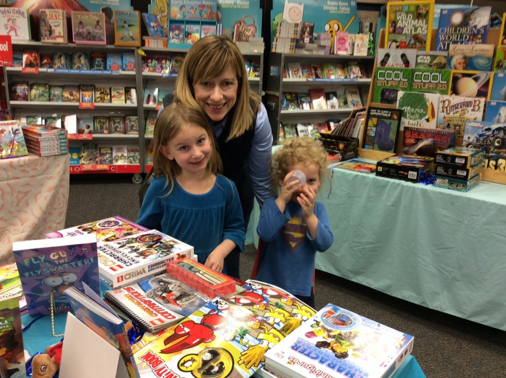 Book Fair!  Serenity got a dozen chapter books and she read them all before Book Fair week was over.