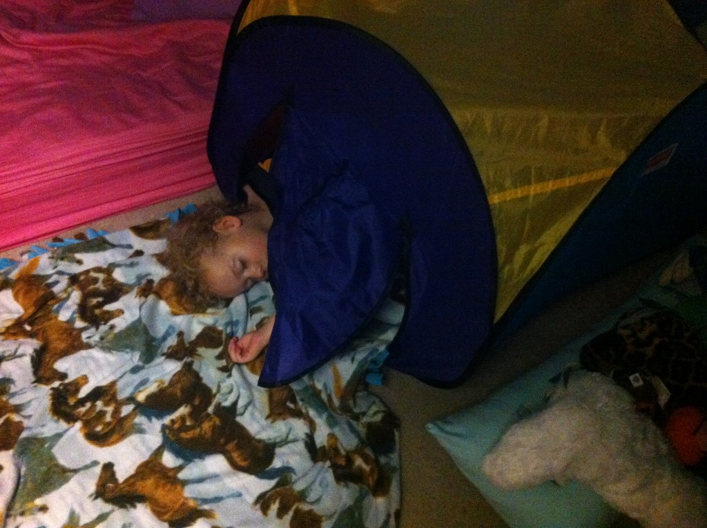 Sleeping in the tents made snow days more fun =)