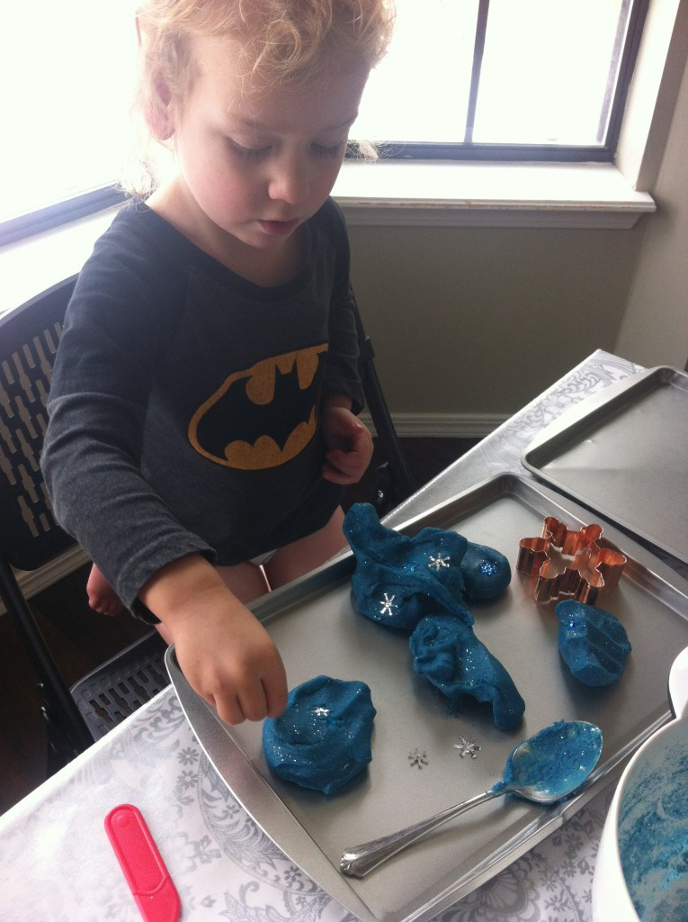 Frozen Play-Doh!  we made it ourselves =)
