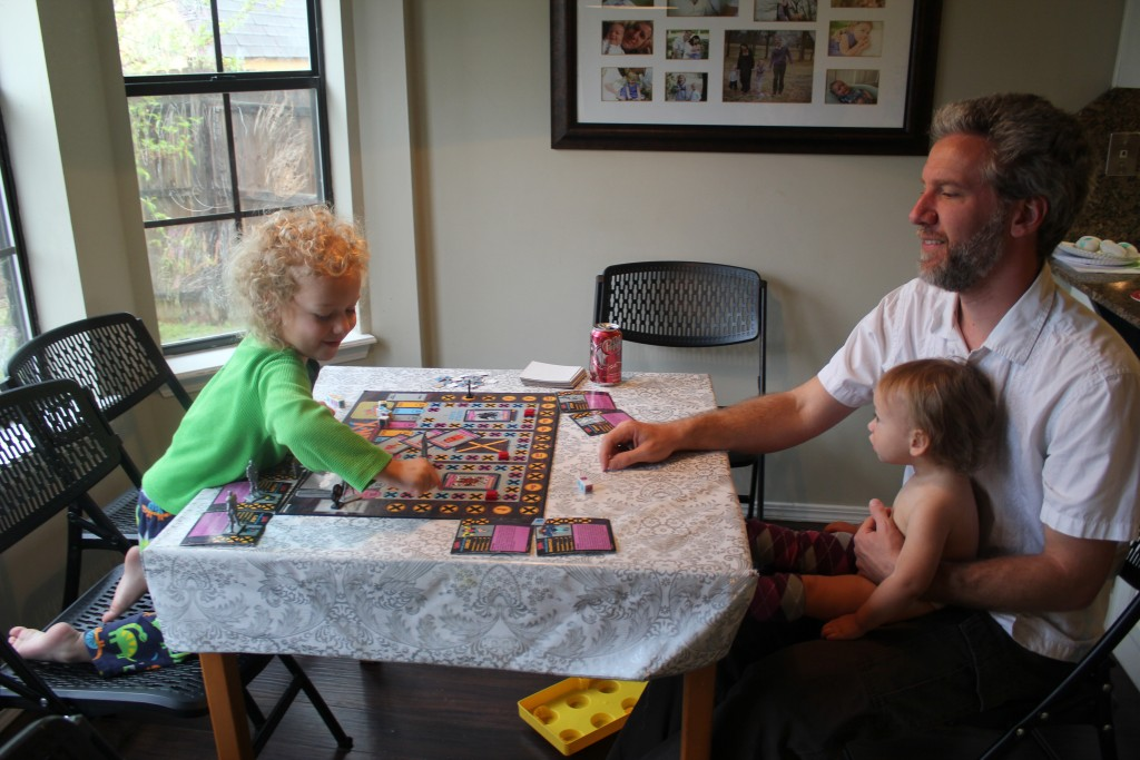 Playing X-men with Daddy