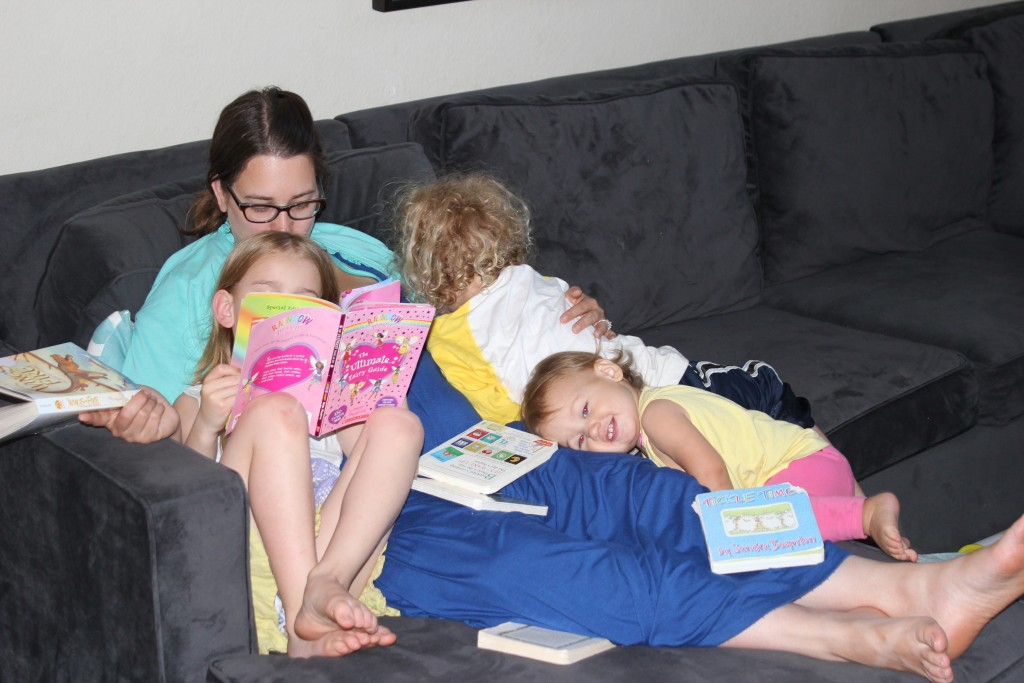 Reading and snuggles.  My life is SO great!