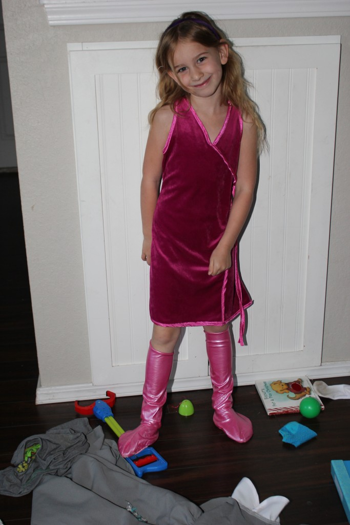 I remember buying this Daphne costume for Raegan!  How did my baby get so BIG!?!