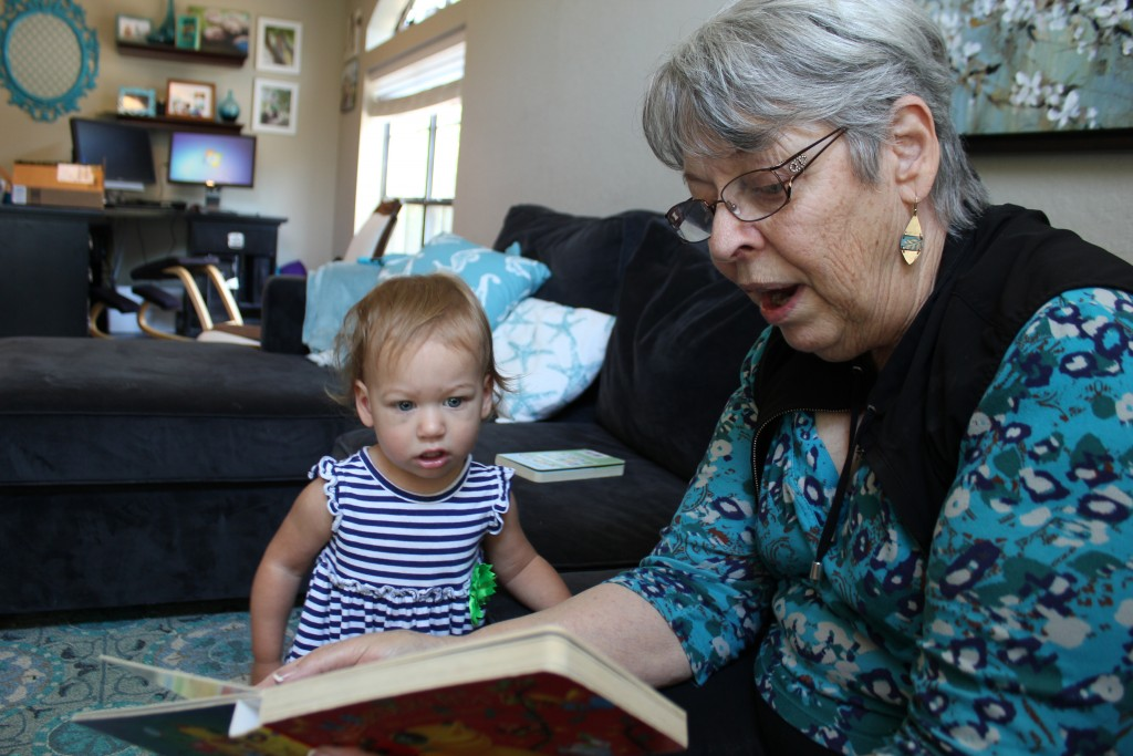 Loves books and Grandma =)