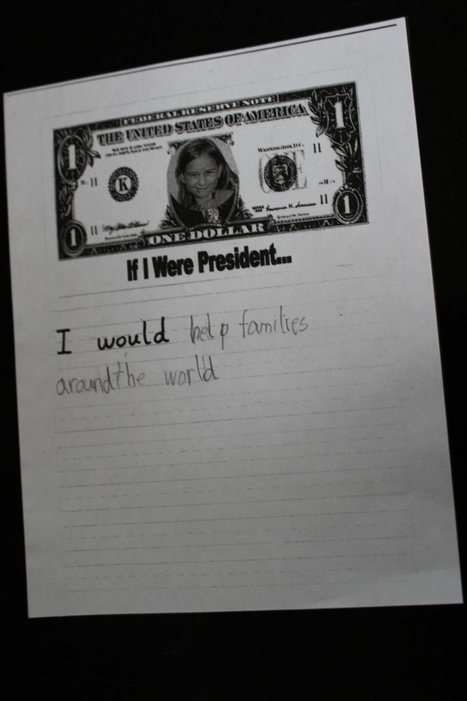 If Serenity were President, she would help families around the world.