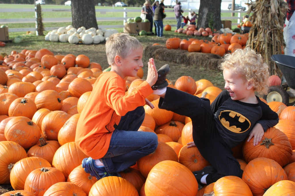 October 2014 at our annual trip to the pumpkin patch with the Thorps =)
