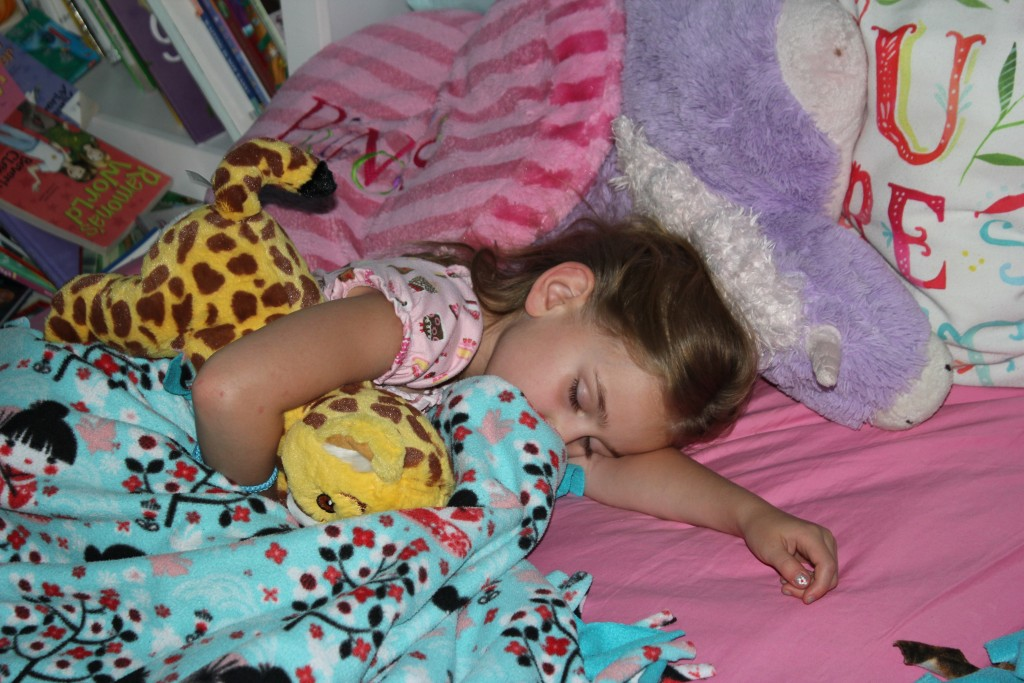 Serenity slept with the cheetah she earned selling Girl Scout cookies